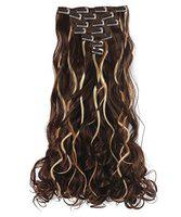 Majik Latest Arrival Synthetic Hair Extension For Women And Girls For Casual And Party Wear With Hair Styling Accessories 40 Grams Pack Of 1 (Golden Highlights Straight)