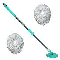 Winberg Bucket Mop Rod with 2 Refill 360 Spin Rod Stainless Steel Rod Stick Rotating Pole snglrodset13