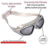 THE MORNING PLAY Arrowmax UV Protection and Anti-Fog Swimming Goggles (Grey)