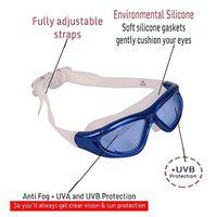 THE MORNING PLAY Arrowmax UV Protection and Anti-Fog Swimming Goggles (Blue)