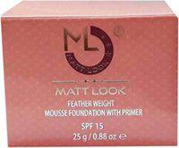 Mattlook Feather Weight Mousse Foundation with Primer Satin Foundation (SATIN, 25 g)