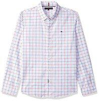Tommy Hilfiger Baby Boy's Checkered Regular fit BabyShirts (P9ACW1522T_Bright White 2t)