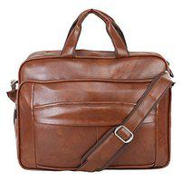 BumBart Collection Men's Leather Messenger Bags (Tan)