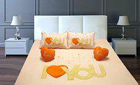 Fresh From Loom Cotton 500 TC Bedding Set (Orange_Double)