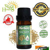 Herbins fennel seed oil for skin care, anti aging, hair growth - 10ml