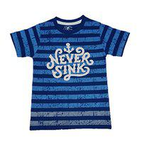 Yorker Navy Graphic Printed Cotton Half Sleeves T Shirts for Boys