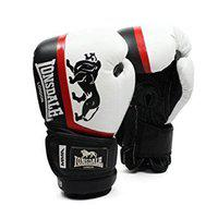 Fire Fly MMA Training Gloves for Boxing MMA Sparring Training PU Black White (10oz 12oz 14oz 16oz) Shock Absorbing (10OZ)