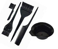 Morges Hair Dye Bowl With Hair Dye Brush Set For Women And Men For Use Home And Saloon In Black Color Pack Of 1