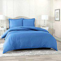 Impeccable Home Microfiber 180 TC Bedsheet (Blue_King)