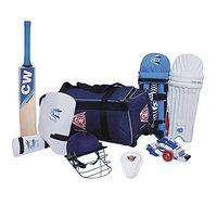 CW Academy Left Hand Cricket Kit Set for Kids Perfect Cricket with Bat Wheelie Kit Bag & All Cricket Accessories Kashmir Willow Kit Junior Youth Boys Senior Left Handed Set All Age Group