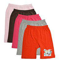 Jisha Pure Cotton Solid Multicolor Cycling Shorts (Set of 5) (18-24 Months)