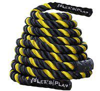 Letsplay V2 Color Battle Ropes/Pure Poly Dacron Battle Rope for Strength and Conditioning Workouts Now Special Pricing on 1.5 and 2 Diameter, 30ft, 40ft, 50ft Options
