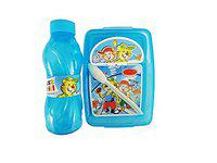 Wizme School Accessories Tiffin Box with Water Bottle for School Kids Return Gift for Kids Blue 40 Gram Pack of 1