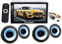 Sound Boss 2D in Bluetooth Car Video Player 7'' Ultra HD Touch Screen/Coaxial Car Door Speaker and Night Vision Rear View Camera (Combo)