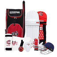 CW Player Choice Complete Cricket Kit Batting Accessories (Without Bat) Size 4 for 8-9 Yr Kids