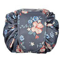 Style Homez HAVANA, Travel Cosmetic Makeup Carrying Pouch Bag cum Organizer for Women, Toiletry Kit and Jewelry Organizer (Grey Floral)