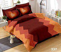 Toro Blu Cotton 400 TC Bedsheet (Red_King)