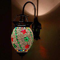 Earthenmetal Quirky Glass Crystals Decorated Glass Wall lamp