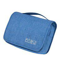 SoloTravel Cosmetic Pouch Makeup Bag Travel Toiletry Organizer Grooming Dopp Kit for Men and Women (MSH0015D - Sky Blue)