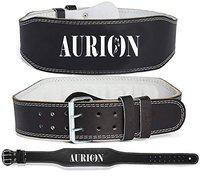 Aurion Genuine Leather Weight Lifting Belt Body Fitness Gym Back Support Power Lifting Belt (XL)