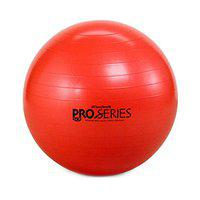 TheraBand Exercise and Stability Ball for Improved Posture, Balance, Core Fitness, Coordination, Rehab, Pro Series SCP Slow Deflate Burst Resistant 55cm (Red)