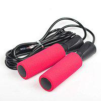 SPORTO FITNESS Jump Rope Adjustable for Fitness Boxing Double Unders Exercise (RED)