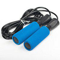 SPORTO FITNESS Jump Rope Adjustable for Fitness Boxing Double Unders Exercise (Blue)