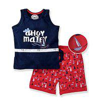 TONYBOY Boy's Cotton Suit (2365_Navy Red_2-3 Years)