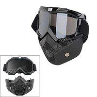 Dhe Best Bike FM-02 Modular Mask Nose Face Helmet Detachable/Removable Motorcycle Goggles Mask Helmet And Mouth Filter For Royal Enfield Electra