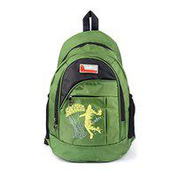 UNITY BAGS Nylon Polyester 35 L Multi Pocket Waterproof Green Shoulder School Backpack for Girls and Boys