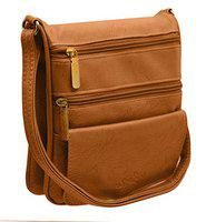 TAP FASHION Sling Bags For Girls Stylies letest with Adjustable Strap (Light Brown)