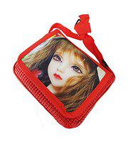 Leysin Sling Bag for Kids and Girls for School Travel and Picnic Use Red Pack of 1