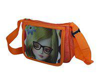 Leysin 3D Effect Cartoon Printed Kids Bag for School and Picnic for Girls Stylish Pack of 1