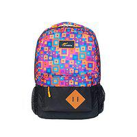 Protecta Polyester 30 L 3 Dot One 4 Squared Up Print School Bag