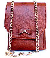 ASTIR COLLEEN Sling bag/Cross-body Leather Bag for Ladies (Light Brown)