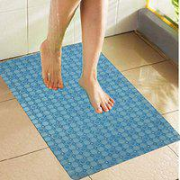 Kuber Industries PVC 1 Piece Bath Mat with Suction Cups (Sky Blue)-CTKTC5592