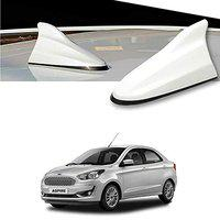 Oshotto Car Shark Fin Roof Antenna Car Antenna Radio FM/AM Car Decorate Compatible with Ford Aspire - (White)