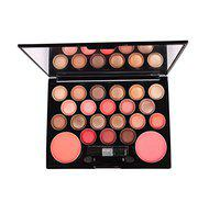 Futaba Shimmer Eye shadow Palette With Mirror -22 Colours - Pink
