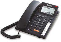 UNIDEN AS7411 Black Corded Landline Phone with Speakerphone & Caller ID, Headset Jack, Large LCD tilt Adjustable, 8 One Touch, Wall Mountable