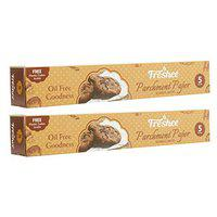 Freshee 5 Meter Pack of 2 Parchment Paper Roll, Idle for Baking and Cooking, Freezer & Microwave Safe Butter Paper for Food