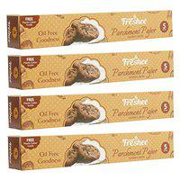 Freshee 5 MeterParchment Paper Roll Pack of 4, Baking Paper, Food Wrap, Butter Paper, Baking Wrap, Microwave Safe Cooking Paper