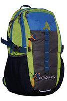 Attache Travel Backpack With Rain Cover Rucksack  - 30 L(Multicolor)