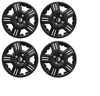 CARIZO Car Wheel Cover Caps VTEC 14 inches Black Press Type Fitting (Set of 4) for Honda City Type 4 (2009-2014)
