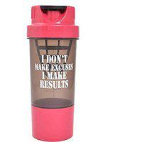 HAANS Protein Shaker Bottle for Gym 500 ml (Pink)