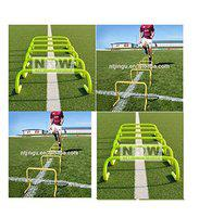 Speed & Fitness Training Hurdle Pack of 6 High Tube Pipe Built PVC Fixed Jumping Hurdles
