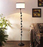 Devansh Metal Floor Lamp with Base and Shade, Multicolour, Pack of 1 Floor Lamp Stand,1 Base, 1 Shade