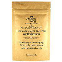 Ancient Living Organic Tulasi & Neem face Pack with Purifying and detoxifying Properties - 40 gm