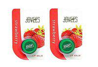 Jovees Strawberry Lip Balm Pack Of 2 Berry (10 g)