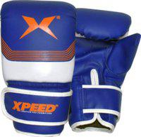 XpeeD Boxing Training Gloves for Bag Sparring Blue in PVC Wrist Wrap Light Padding Free Size