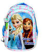 Priceless Deals 17 Inch Blue Polyester Feather Frozen Princess Character Waterproof Light Soft Fluffy School Bag for Girls Up to 9th Class